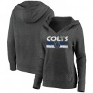 Women's Indianapolis Colts Charcoal First String V Neck Pullover Hoodie