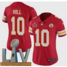 Women's Kansas City Chiefs #10 Tyreek Hill Limited Red 2021 Super Bowl LV Bound Vapor Untouchable Jersey