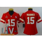 Women's Kansas City Chiefs #15 Patrick Mahomes II Limited Red 2021 Super Bowl LV Bound Vapor Untouchable Jersey