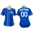 Women's Kansas City Royals Customized Blue Cool Base Jersey