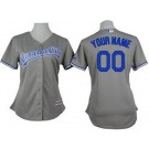 Women's Kansas City Royals Customized Grey Cool Base Jersey