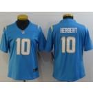 Women's Los Angeles Chargers #10 Justin Herbert Limited Powder Blue Vapor Untouchable Jersey