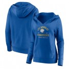 Women's Los Angeles Chargers Blue Vintage Arch V Neck Pullover Hoodie