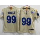 Women's Los Angeles Rams #99 Aaron Donald Limited Bone 2020 Vapor Untouchable Jersey