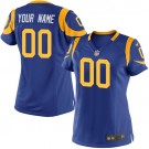 Women's Los Angeles Rams Customized Game Blue Yellow Jersey