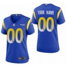 Women's Los Angeles Rams Customized Limited Blue 2020 Vapor Untouchable Jersey