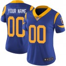Women's Los Angeles Rams Customized Limited Blue Yellow Vapor Untouchable Jersey