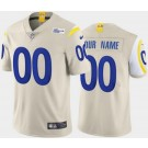 Women's Los Angeles Rams Customized Limited Bone 2020 Vapor Untouchable Jersey