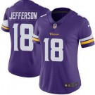 Women's Minnesota Vikings #18 Justin Jefferson Limited Purple Vapor Untouchable Jersey