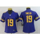 Women's Minnesota Vikings #19 Adam Thielen Limited Purple Rush Jersey