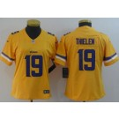 Women's Minnesota Vikings #19 Adam Thielen Limited Yellow Inverted Vapor Untouchable Jersey