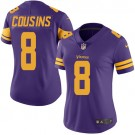 Women's Minnesota Vikings #8 Kirk Cousins Limited Purple Rush Jersey