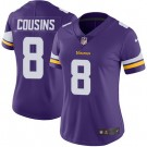Women's Minnesota Vikings #8 Kirk Cousins Limited Purple Vapor Untouchable Jersey