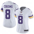 Women's Minnesota Vikings #8 Kirk Cousins Limited White Vapor Untouchable Jersey