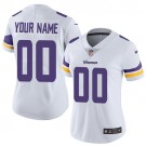 Women's Minnesota Vikings Customized Limited White Vapor Untouchable Jersey