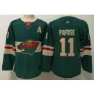 Women's Minnesota Wild #11 Zach Parise Green Jersey