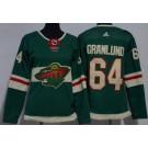 Women's Minnesota Wild #64 Mikael Granlund Green Jersey