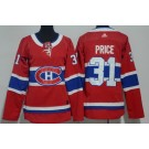 Women's Montreal Canadiens #31 Carey Price Red Jersey