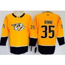 Women's Nashville Predators #35 Pekka Rinne Yellow Jersey