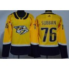 Women's Nashville Predators #76 PK Subban Yellow Jersey