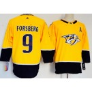 Women's Nashville Predators #9 Filip Forsberg Yellow Jersey
