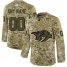 Women's Nashville Predators Customized Camo Authentic Jersey