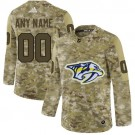 Women's Nashville Predators Customized Camo Fashion Authentic Jersey
