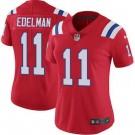 Women's New England Patriots #11 Julian Edelman Limited Red Vapor Untouchable Jersey
