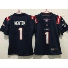 Women's New England Patriots #1 Cam Newton Limited Navy 2020 Vapor Untouchable Jersey