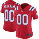 Women's New England Patriots Customized Limited Red Vapor Untouchable Jersey