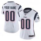 Women's New England Patriots Customized Limited White Vapor Untouchable Jersey