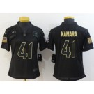 Women's New Orleans Saints #41 Alvin Kamara Limited Black 2020 Salute To Service Jersey