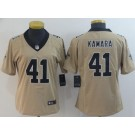 Women's New Orleans Saints #41 Alvin Kamara Limited Gold Inverted Vapor Untouchable Jersey