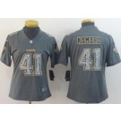 Women's New Orleans Saints #41 Alvin Kamara Limited Gray Static Vapor Untouchable Jersey