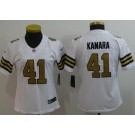 Women's New Orleans Saints #41 Alvin Kamara Limited White Rush Jersey
