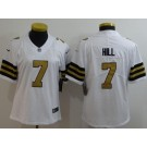 Women's New Orleans Saints #7 Taysom Hill Limited White Rush Jersey