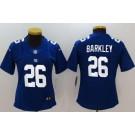 Women's New York Giants #26 Saquon Barkley Limited Blue Vapor Untouchable Jersey