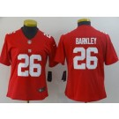 Women's New York Giants #26 Saquon Barkley Limited Red Vapor Untouchable Jersey