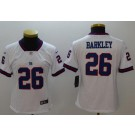 Women's New York Giants #26 Saquon Barkley Limited White Rush Color Jersey