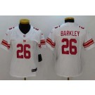 Women's New York Giants #26 Saquon Barkley Limited White Vapor Untouchable Jersey