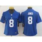 Women's New York Giants #8 Daniel Jones Limited Blue Vapor Untouchable Jersey
