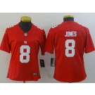 Women's New York Giants #8 Daniel Jones Limited Red Vapor Untouchable Jersey