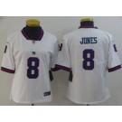 Women's New York Giants #8 Daniel Jones Limited White Rush Jersey