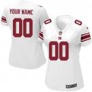 Women's New York Giants Customized Game White Jersey