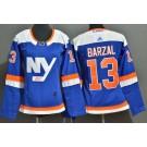 Women's New York Islanders #13 Mathew Barzal Blue Alternate Authentic Jersey