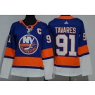 Women's New York Islanders #91 John Tavares Blue Jersey