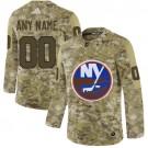 Women's New York Islanders Customized Camo Fashion Authentic Jersey