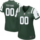 Women's New York Jets Customized Game Green Jersey
