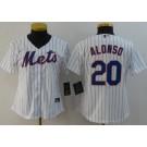Women's New York Mets #20 Pete Alonso White Cool Base Jersey