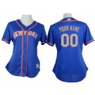 Women's New York Mets Customized Blue 2 Cool Base Jersey